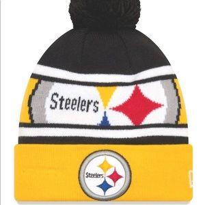 Men's Black Pittsburgh Steelers Logo Knit Hat